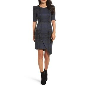 Betsey Johnson Asymmetric Plaid Dress Size 6
